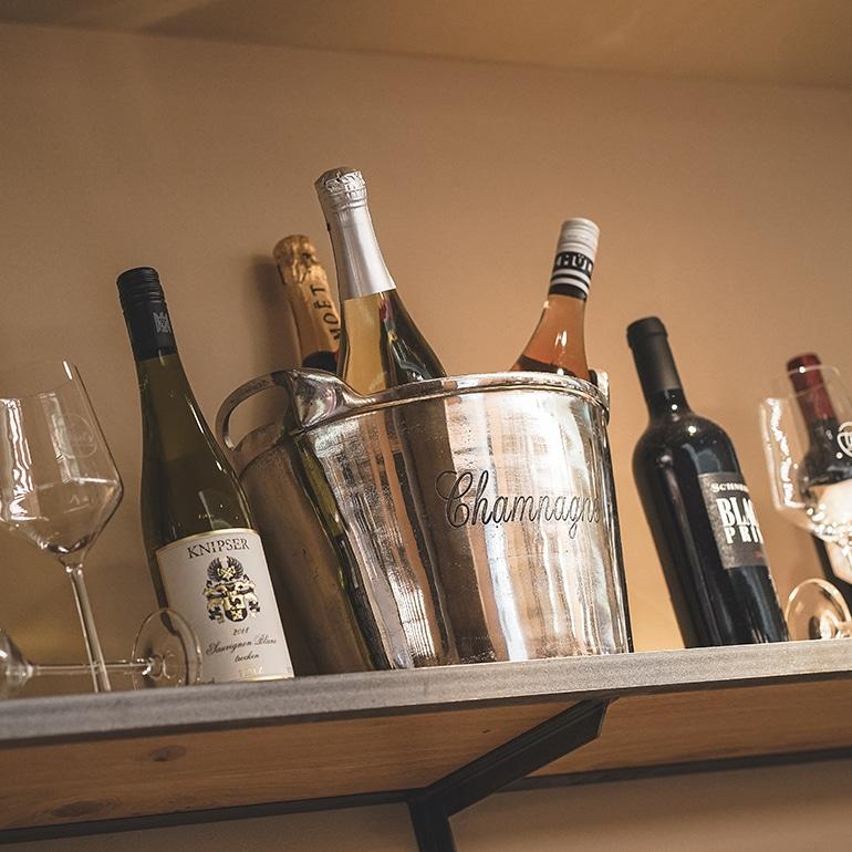 Champagner und andere Getränke