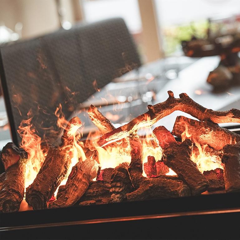 Feuerstelle vor Thiet's Restaurant