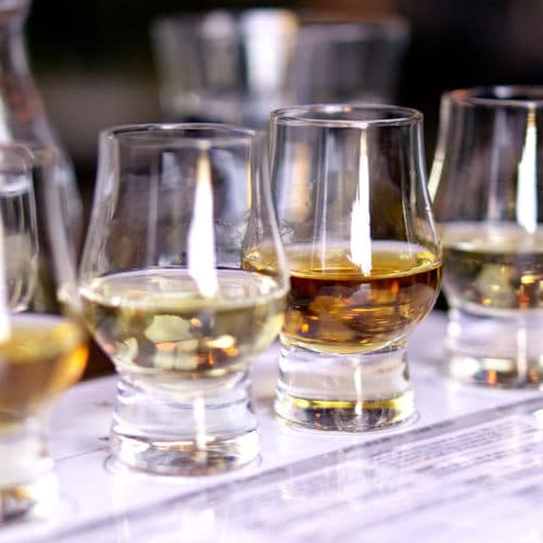 whiskey gin rum tasting
