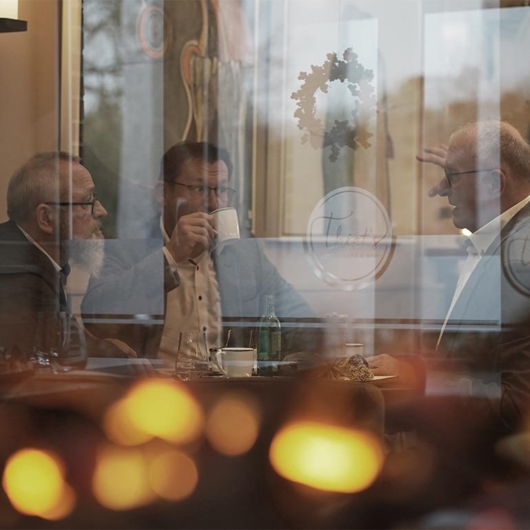 Abendstimmung im Thiets Restaurant